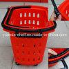 Cestino della rotella della plastica 4 di laminazione di uso di acquisto della memoria del supermercato