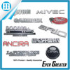 Automobile Metal Logo Emblem 3D Badges Custom Size