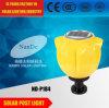 Neues Aluminiumunterbringensolarpfosten-Licht des pole-Licht-LED