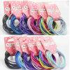Anello Hairbands di gomma elastico (JE1505) della corda imballato scheda Mixed di colori
