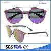 Óculos de sol polarizados italianos do metal do olho de gato do projeto para mulheres