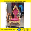 Evento de casamento Decoração de luxo Cadeira de madeira do rei do trono