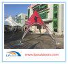 Tienda de encargo de la cortina de la estrella de la playa de la tela del PVC del diámetro los 8m para el anuncio al aire libre