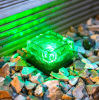 SolarBrick Ice Cube Path Light Crystal Garten Lamp (grüne LED)