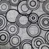 Tissu de flocage de toile de traitement de polyester pour le sofa