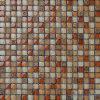Померанцовое Mat 15X15mm Glass Mix Resin Mosaic