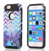 Phone móvil Accessories TPU Caso Galaxy Chevron Cover Two-Layer Slim Protective Cover para iPhone6 e iPhone6 Plus