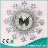 Reloj de pared decorativo de lujo del arte del metal