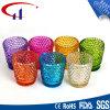 Suporte de vela de vidro de Tealight da forma colorida do cilindro (CHZ8008)