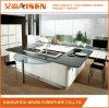 De goedkope Witte Moderne Keukenkast van de Lak met het Dineren Staaf