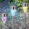 Les lumières solaires de chemin de mosaïque, lampe de pelouse d'horizontal, font du jardinage lumière solaire