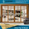 Алюминиевая/алюминиевая раздвижная дверь с двойным стеклом