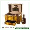 Rectángulo de cigarro de madera del almacenaje del cedro de gama alta con el cajón de la bandeja
