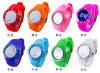 Reloj popular atractivo del silicón del vario color del caramelo