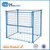 Stapeln von Wire Mesh Storage Pallet Cage mit Wooden Pallet