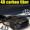 Высокое качество 4D Glossy Carbon Fiber Vinyl для обруча Car
