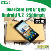 二重Core WiFi GPS 5  IPS 5MP Dual Camera、中国3G Android Smartphone