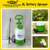 pulverizador molhando do jardim do pulverizador da bateria do trole 8L