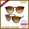 F6033 Retro Sunglasses mit Leopard Print