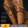 Pvc van het Patroon van de Huid van de slang maakte Synthetisch Leer voor Zak in reliëf