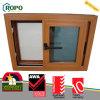 Conception en plastique en bois de fenêtre en verre de glissement de la couleur UPVC petite