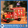 Carro de madera del calendario del advenimiento para la decoración de la Navidad y el regalo de la Navidad