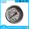 type indicateur de pression rempli d'huile de glycérine de dos d'acier inoxydable de 1.5  40mm ou de silicones de 250bar