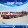 China 2016 Hot Sale 5 Line 10 Axle 125tonss Low Workbed Modular Semi Trailer