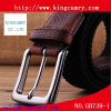 Metal Zinc Alloy Silver Pin Belt Buckle