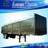 반 탄소 강철 물자 측벽 트레일러 평상형 트레일러 Semi-Trailer/3 차축 트럭 트레일러 수송 대량 화물