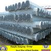 Tubulações de aço galvanizadas mergulhadas quentes com a inserção do tampão do PVC