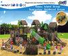 Equipamento ao ar livre Hf-10201 do campo de jogos da corrediça da casa de madeira