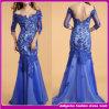 Платье вечера 2014 шнурка лидирующей средств втулки Backless голубое