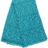Dress를 위한 100%년 폴리에스테 Plain Design Teal Green Lace Embroidery High Quality Guipure Lace Fabric