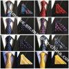 La relation étroite en soie de Mens de cravate de polyester élégant a placé avec le mouchoir pour le cadeau