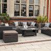 角のソファー、屋外のソファー、藤の庭の家具、藤の家具