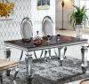 (A8090) Tabella pranzante moderna domestica dell'acciaio inossidabile della mobilia
