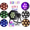 DMX het Correcte UV6in1 Binnen LEIDENE van de Controle 7LEDs 18W RGBWA PARI kan Verlichting