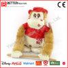 Regalo del día de tarjeta del día de San Valentín gorila de los animales rellenos para la muchacha