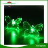 20 luces solares cambiantes de la cadena LED del color del LED del jardín de la mariposa de la luz impermeable al aire libre ligera solar de la decoración