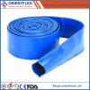 Boyau bleu de Layflat d'irrigation par égouttement de PVC pour le pompage de l'eau et de boue