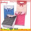 Sac rayé bleu rose de cadeau de Spoted