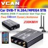 Caixa superior ajustada do carro DVB-T H. 264/MPEG4 (DVB-T7200)