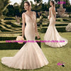 Freee Shipping Mermaid Bridal Wedding Dress с v Neckline