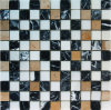 Negro y blanco mármol del mosaico