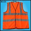 Vesten van de Waarschuwing van de Veiligheid van de Polyester van 100% de Fluorescente (R121)