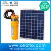 Angeschaltene Wasser-Solarpumpe