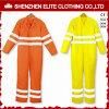 Tuta riflettente di sicurezza giallo arancione fluorescente del cotone (ELTHVCI-15)