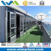 PVC Tent 12mx40m Aluminum с Glass Windows на борту для Restaurant
