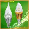 Heißes Birnen-Licht 3W des Verkaufs-LED im silbernen oder goldenen Gehäuse (XXW-CB-3W)